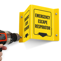 Emergency Escape Respirator (with arrow)
