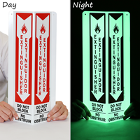 Bilingual Fire Extinguisher Projecting Glow Sign