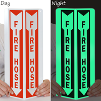 Glow-In-The-Dark Fire Hose Projecting Sign