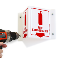 Directional Projecting Fire Extinguisher Sign