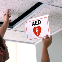 2-Sided, Aed Sign