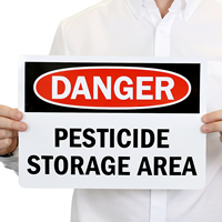 DANGER: PESTICIDE STORAGE AREA Sign