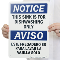 This Sink Is For Dishwashing Only Sign