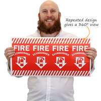Adhesive Fire Extinguisher Sign