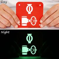 GlowSmart™ Automatic Sprinkler Control Valve, Fire Riser Sign