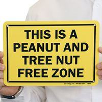 This Is A Tree Nut Free Zone Sign