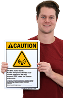 Radio Frequency ANSI Caution Signs