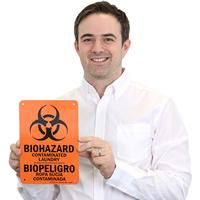 Biohazard Contaminated Laundry Sign