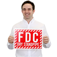 Standpipe Connection Fdc Sign