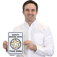 Team Work Safety Sign
