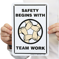 Safety Team Work Sign