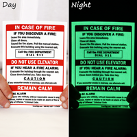 Fire and Emergency Glow Sign