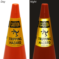 Caution Tripping Hazard Cone Collar
