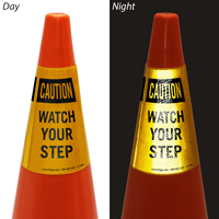 Watch Your Step Cone Collar Safety Sign