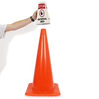 Keep Clear Cone Message Collar Safety Sign