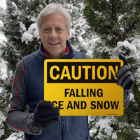 Falling ice and snow sign