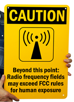 Caution Radio Frequency Signs