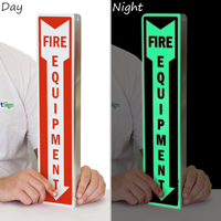 Glow-In-The-Dark Fire Equipment Sign