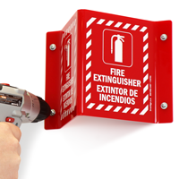 Fire Extinguisher Sign with Graphic
