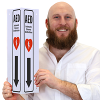 AED Automatic External Defibrillator Signs with Graphic