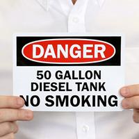 No Smoking Diesel Tank Sign