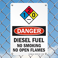 Open Flame Danger Sign