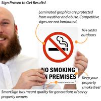 No Smoking On Premises Safety Sign