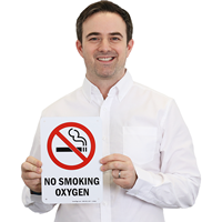 No Smoking Oxygen (symbol) Sign