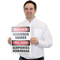 Venomous Snakes, Serpientes Venenosas Bilingual Sign
