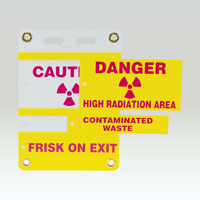 3 Insert Radiation Slide-Lock Sign System