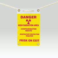 Radiation Slide-Lock Sign