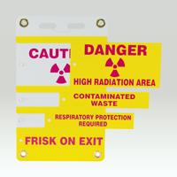 4 Insert Radiation Slide-Lock Sign System