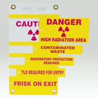 5 Insert Radiation Slide-Lock Sign System