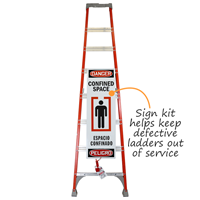 Confined Space Ladder Shield Kit