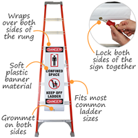 Danger Confined Space Keep Off Ladder Shield Wrap