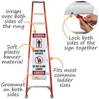 Danger Confined Space Do Not Climb Ladder Shield Wrap
