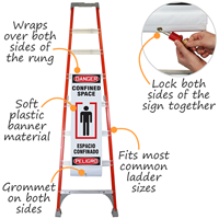 Danger Confined Space Bilingual Ladder Shield Wrap