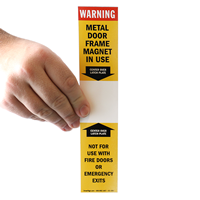 Warning Metal Door Frame Magnet