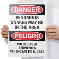 Bilingual Danger OSHA Sign