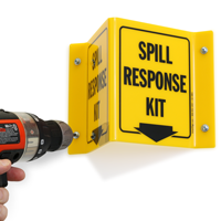 Spill Kit Projecting V-Sign
