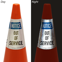 Notice Out Of Service Cone Message Collar
