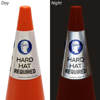 Hard Hats Required Cone Message Collar