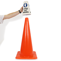 Hard Hats Required Message Cone Collar