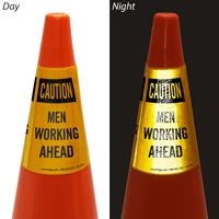 Caution Men Working Ahead Cone Collar