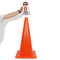Danger Persons Working Above Cone Message Collar