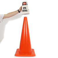 Danger Open Trench Cone Message Collar
