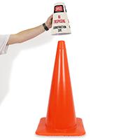 Danger - No Trespassing Cone Message Collar