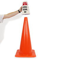 Restricted Area Cone Message Collar