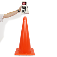 Danger Keep Out Cone Message Collar