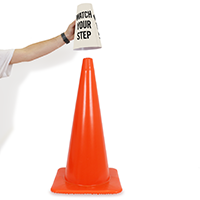 Watch Your Step Cone Collar